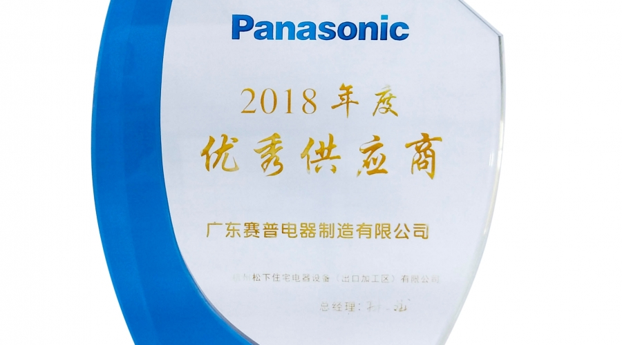 Panasonic excellent supplier of the year